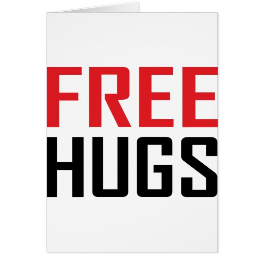 free hugs shirts card