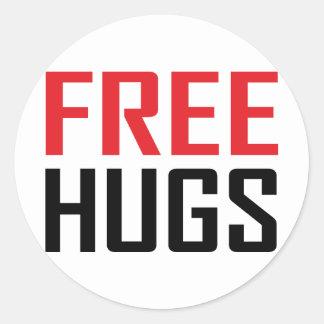 free hugs shirts classic round sticker