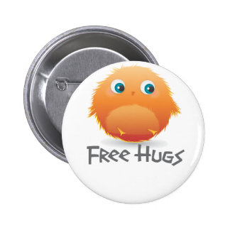 Free hugs small furry creature pinback button
