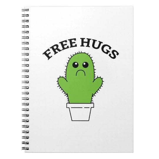 Free Hugs Spiral Notebook
