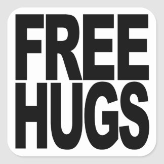 Free Hugs Square Sticker