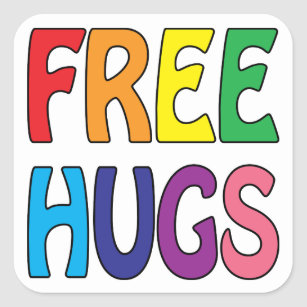 Free Hugs Square Sticker