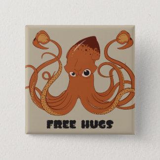 Free Hugs Squid Button