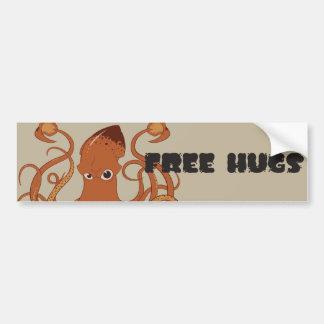 Free Hugs Squid Car Bumper Sticker