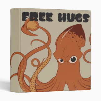 Free Hugs Squid School Binder Folder