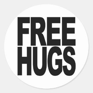 Free Hugs Round Stickers