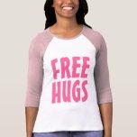 Free Hugs T Shirt for women   Big letters