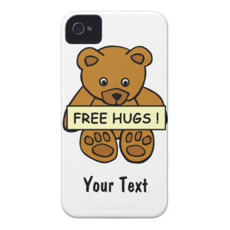 Free Hugs Teddy custom iPhone 4 Case-Mate