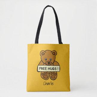 Free Hugs Teddy custom name & color bags