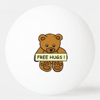 Free Hugs Teddy custom ping pong balls