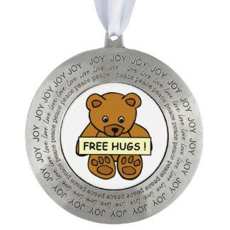 Free Hugs Teddy decoration Pewter Ornament