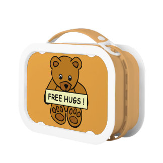 Free Hugs Teddy lunch boxes