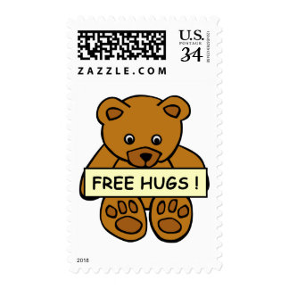 Free Hugs Teddy postage stamps