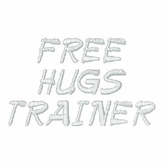 FREE HUGS TRAINER EMBROIDERED JACKETS