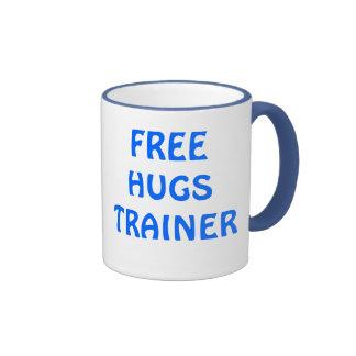 FREE HUGS TRAINER , HUG AND PASS IT ON RINGER COFFEE MUG