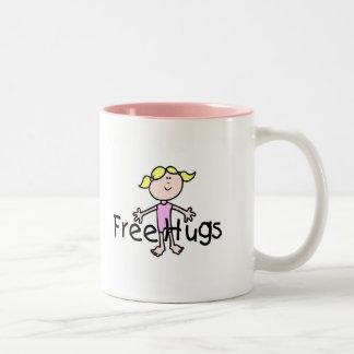Free Hugs Two-Tone Coffee Mug