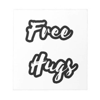 Free Hugs White Text Notepad