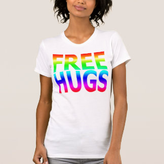 FREE HUGS Women's Rainbow Reversible Sheer Top