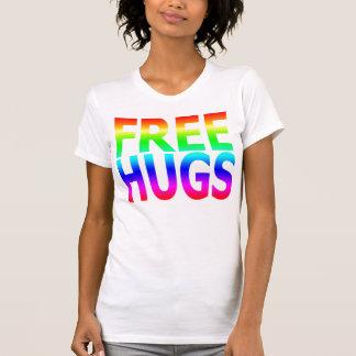 FREE HUGS Women's Rainbow Reversible Sheer Top T-shirts