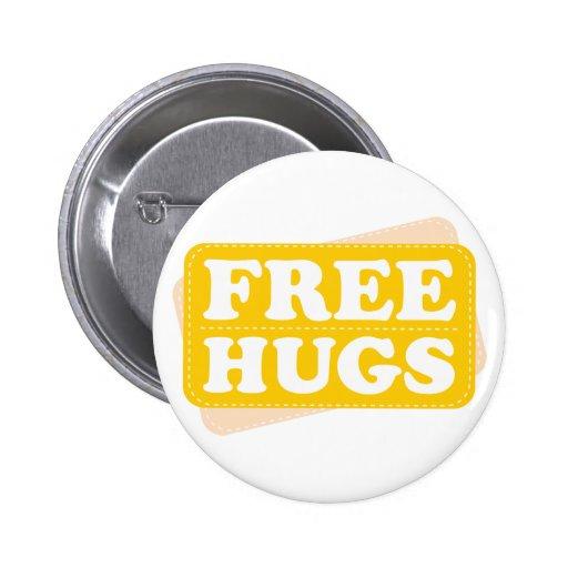 Free Hugs - Yellow Pinback Button