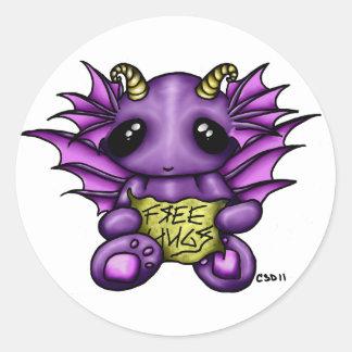 Free Hugz- Whimsy Kawaii Sticker