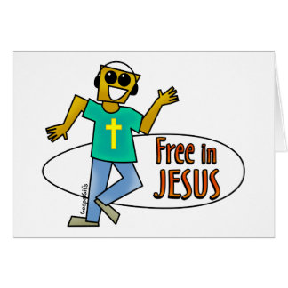 Free in Jesus Greeting Cards