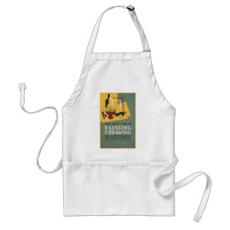 Free Instruction in Painting and Drawing Adult Apron