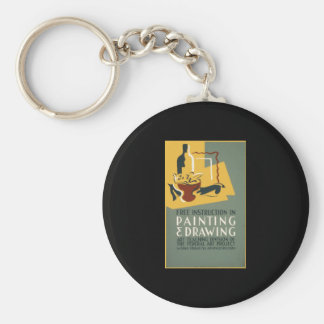 Free Instruction In Painting & Drawing Keychain