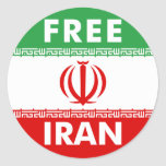 Free Iran Classic Round Sticker