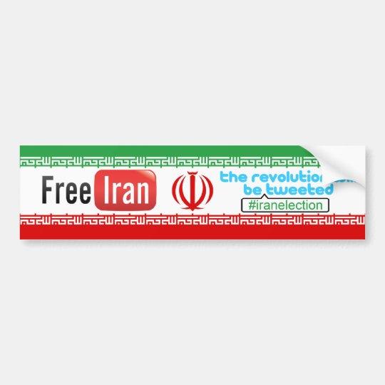 Free Iran - Revolution Tweeted Bumper Sticker