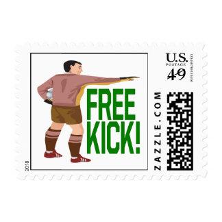 Free Kick Postage Stamps