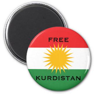 FREE KURDISTAN 2 INCH ROUND MAGNET