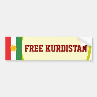 FREE KURDISTAN BUMPER STICKER
