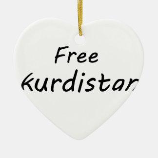 Free Kurdistan Ceramic Ornament