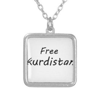 Free Kurdistan Square Pendant Necklace