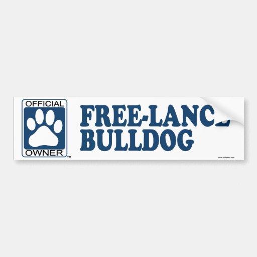 Free-Lance Bulldog Blue Bumper Sticker