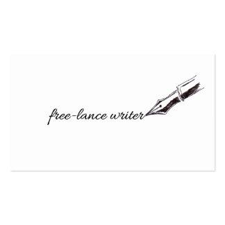 free-lance writer 名刺テンプレート
