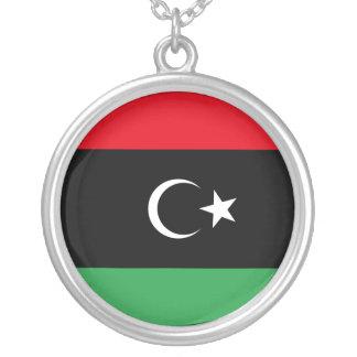 Free Libya Flag Round Pendant Necklace