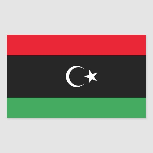 Free Libya Flag Sticker
