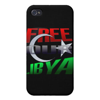 Free Libya Gift for Libyan friends and family iPhone 4 Cover