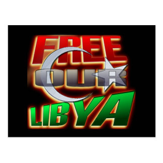 Free Libya Gift for Libyan friends and family Postcard