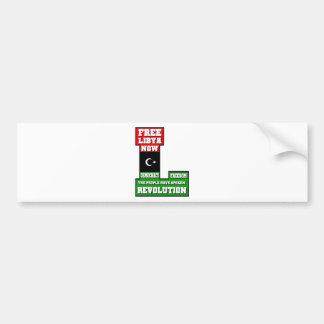 Free Libya Now Bumper Sticker
