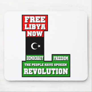 Free Libya Now Mouse Pad