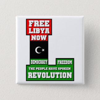 Free Libya Now Pinback Button