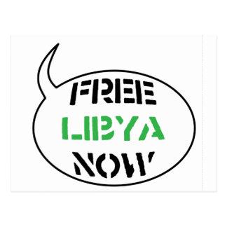 Free Libya Now Postcard