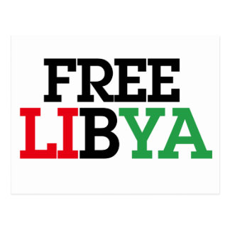 Free Libya Postcard