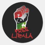 Free Libya Resistance Raised fist - Libya Freedom Stickers