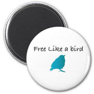 Free like a bird 2 inch round magnet