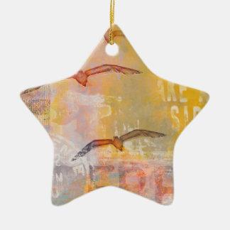 Free like a bird ceramic ornament