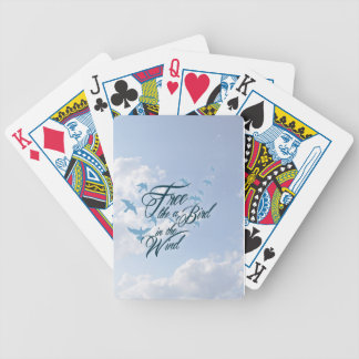 Free like a Bird in the Wind Bicycle Playing Cards